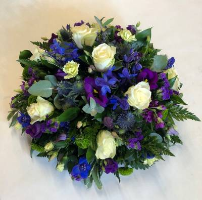 Blue and Purple Posy Pad