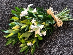 Lily and Freesia Tied Sheaf