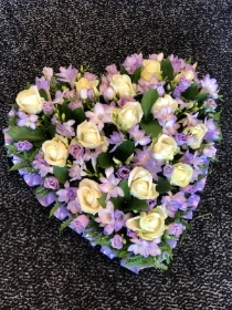 Rose and Freesia Lilac Heart