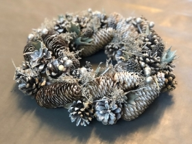 Silver Artificial Wreath